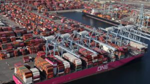 Cargo ships are so full that ports are struggling to unload them
